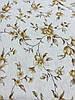 Лён с бежевыми цветочками на бежевом фоне, ширина 150 см