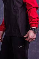 Мужской анорак Nike President красный с черным топ реплика, фото 3