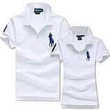 В стиле Ральф поло Мужские и Женские футболки 100% хлопок ралф, фото 6