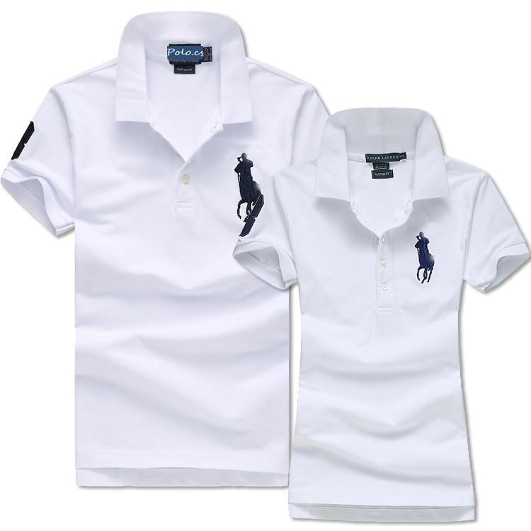 В стиле Ральф поло Мужские и Женские футболки 100% хлопок ралф