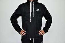 Мужская куртка анорак Nike President черная топ реплика, фото 2