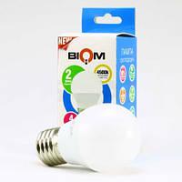 Светодиодная лампа Biom BT-544 G45 4W E27 4500К матовая (нейтральный белый)
