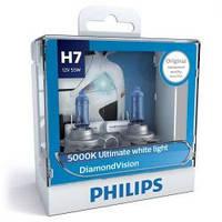 Автолампа Philips H7 Diamond Vision 12V 55W PX26d 12972DVS2