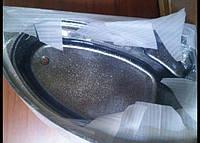 Ванна акрилова КМТ Аделаїда 170 X 110 4мм права з ніжками та панелькою Чорна з перламутровим ефектом