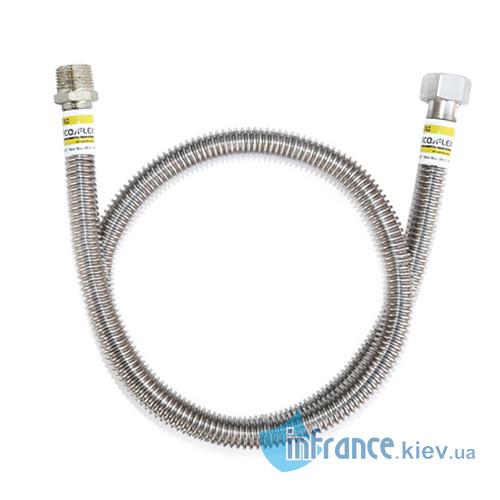 """Шланг для підведення газу ECO-FLEX Стандарт-П 1/2""""Н-3/4""""150 см"""