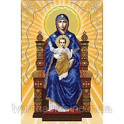 Схема на ткани для вышивания бисером Богородица на престоле