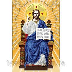 Схема на ткани для вышивания бисером Спаситель на престоле