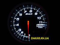 Тюнинговый автомобильный прибор DEFI  7518 тахометр 95мм белая подсветка, фото 1