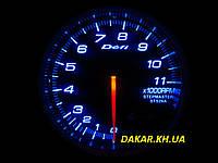 Тюнинговый автомобильный прибор DEFI  7518 тахометр 95мм синяя подсветка