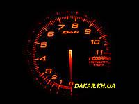 Тюнинговый автомобильный прибор DEFI  7518 тахометр 95мм красная подсветка, фото 1