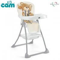 Стульчик для кормления CAM Mini Plus Бежевый с мишкой, S450 - C219