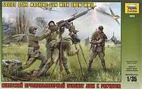 Крупнокалиберный пулемет ДШК с расчетом