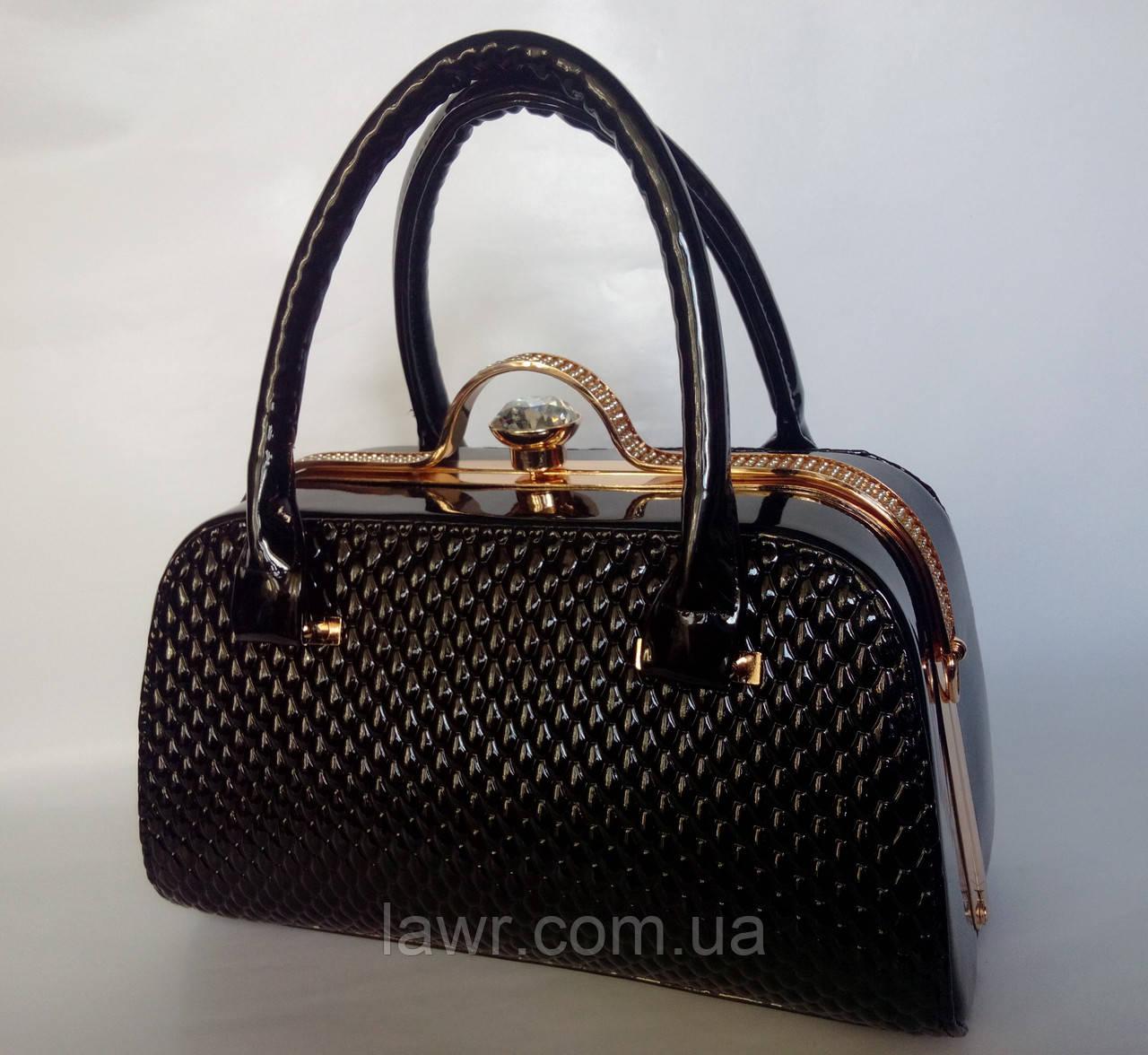 67d45ecf26d5 Стильная, лаковая женская сумка, саквояж, Willow, 007414: продажа ...