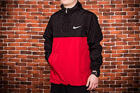 Мужской анорак Nike President черный/красный S