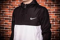 Куртка анорак Nike President черно-белая