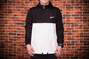 Куртка анорак Nike President черно-белая топ реплика, фото 2