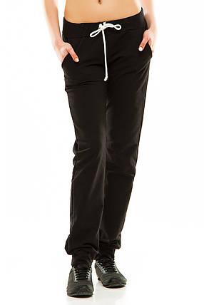 Женские спортивные штаны 302 черные, фото 2