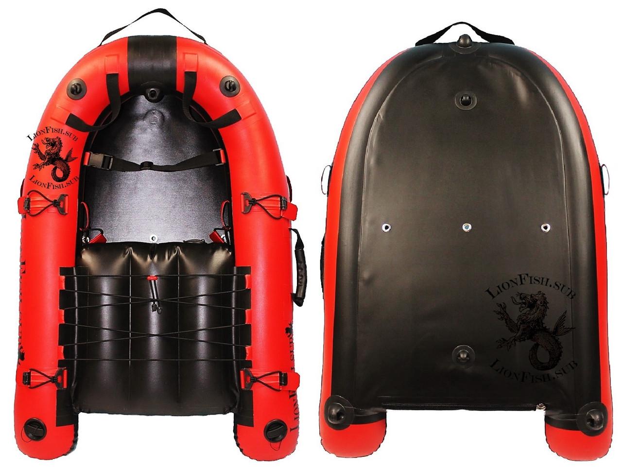 Плот, мини-лодка LionFish.sub, 100см. Буй надувной, ПВХ