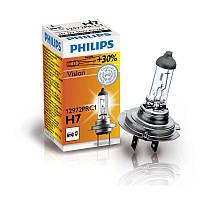 Автолампа Philips Автолампа Philips H7 Vision (+30%) 12V 55W PX26d 12972PRC1