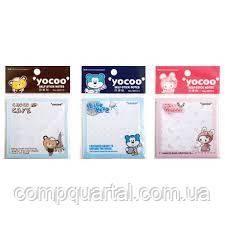 Папір для нотаток з клейкою смужкою DELI 96513 75Х75мм дитячий, Yocco