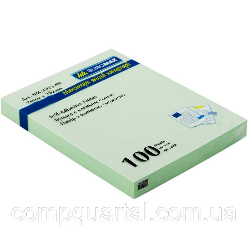 Папір для нотаток з клейкою смужкою BUROMAX 2313-99 76Х102мм 100 аркушів Асорті