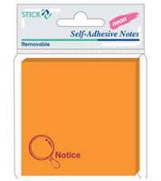 Папір для нотаток з клейкою смужкою HOPAX 21175 Notice 76Х76мм 50 аркушів  Неон помаранчевий