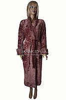 Теплый женский халат из микрофибры Nusa (гюлькурушу) №3640, фото 1