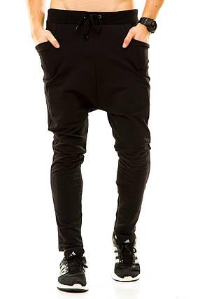 Мужские спортивные штаны черные, фото 2