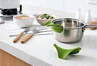 Силиконовая лейка/воронка на посуду (для готовки, кухни), полезно, портативно