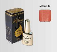 Гель-лак для ногтей «Milena» 47 коралловый с блестками Арго (бескислотный, гипоаллергенный, не течет)