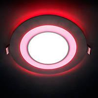 Светодиодный светильник Feron AL2550  8W 640Lm 5000K 120mm с красной подсветкой