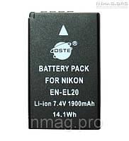 Аккумулятор для фотоаппарата Nikon EN-EL20, 1900 mAh.