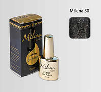 Гель-лак для ногтей «Milena» 50 мокрый асфальт с блестками Арго (бескислотный, гипоаллергенный, не течет)