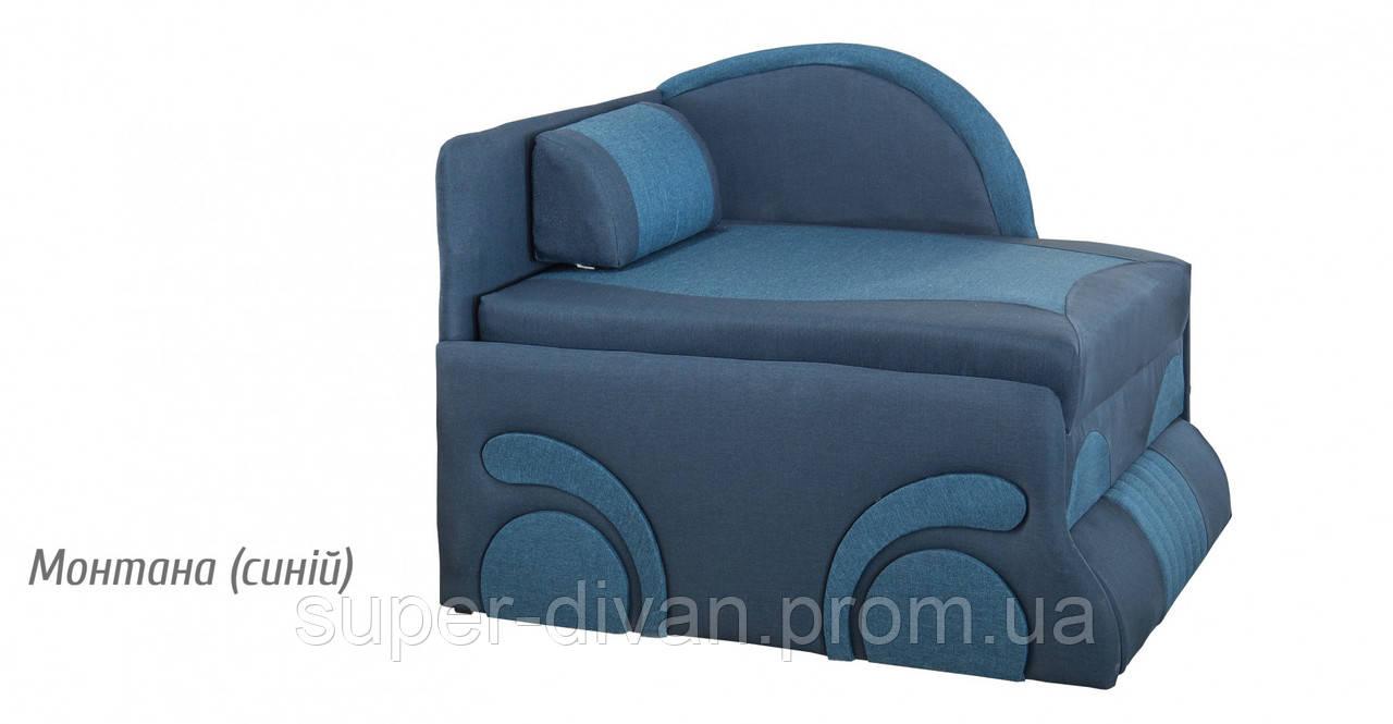 Детский диван Машинка (Монтана синий)