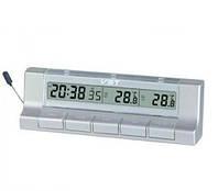 Часы автомобильные 7037 VST (термометр, будильник, календарь, секундомер)
