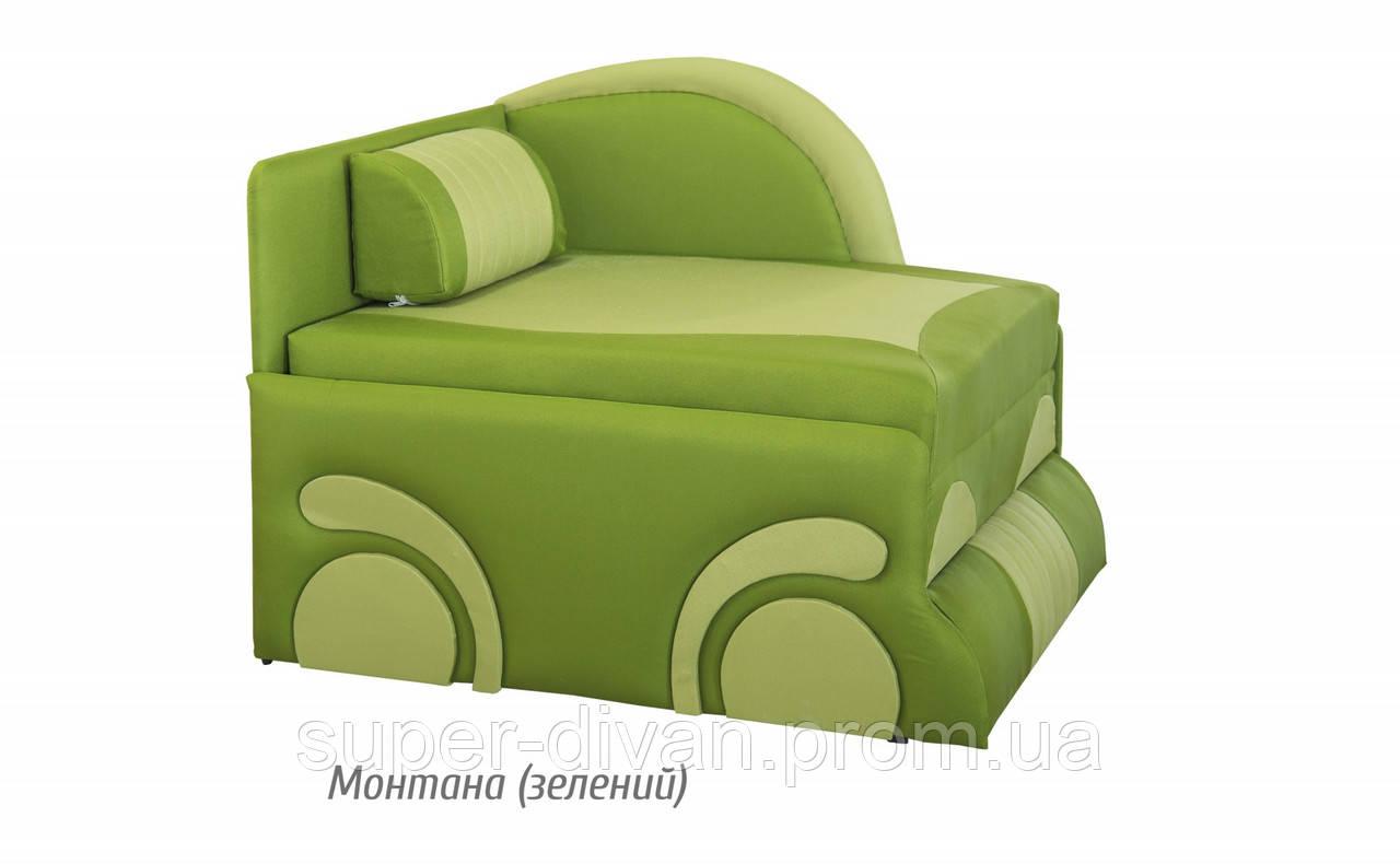 Детский диван Машинка (Монтана зеленый)
