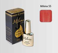 Гель-лак для ногтей «Milena» 55 Арго гранатовый (бескислотный, гипоаллергенный, не течет)