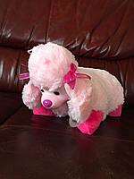 """М'ягка декоративна іграшка-подушка """"Рожева собачка"""""""