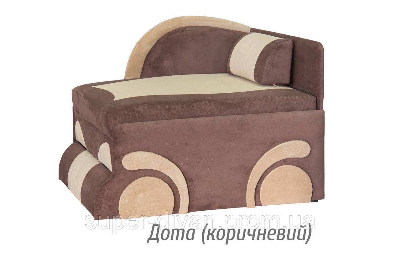 Детский диван Машинка (Дота коричневый)