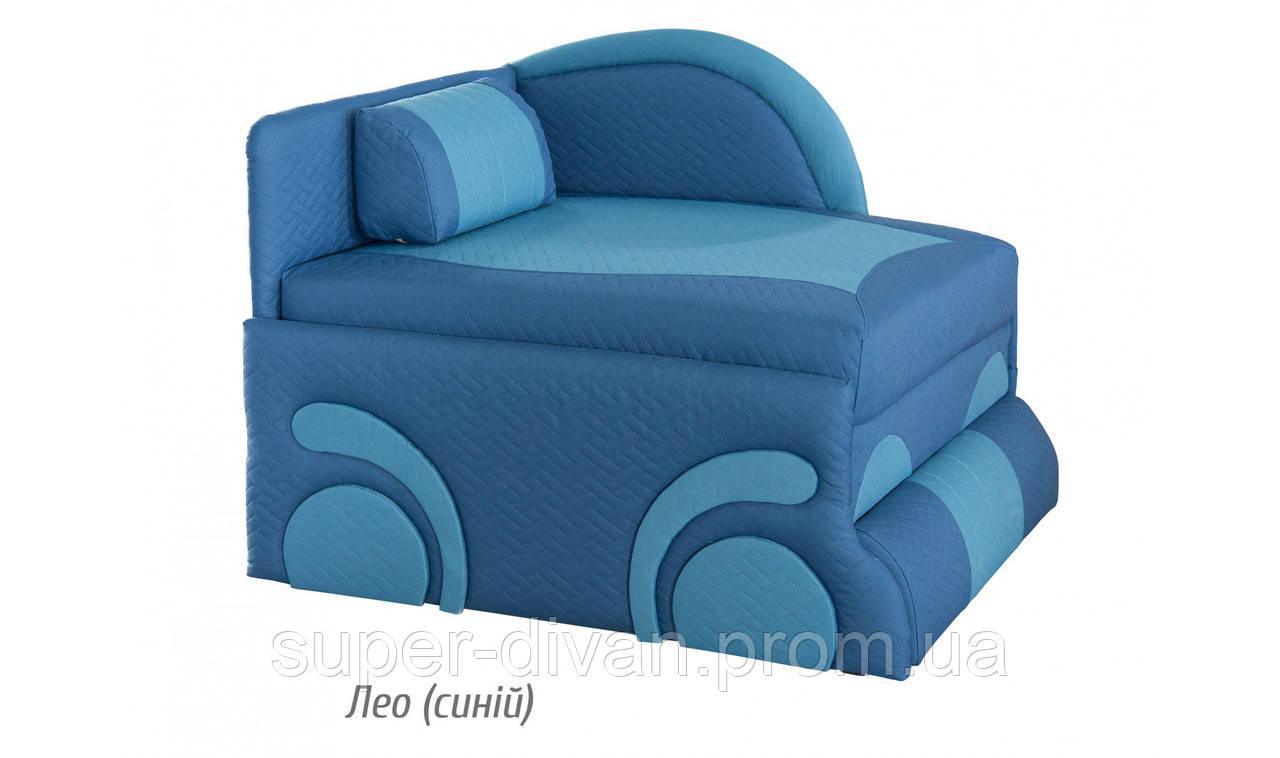 Детский диван Машинка (Лео синий)