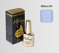 Гель-лак для ногтей «Milena» 04 лазурный (бескислотный, гипоаллергенный, высоко пигментированный, не течет)