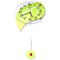 """Красивые настенные часы """"Лист"""""""