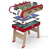 Деревянный полупрофессиональный стол Power Play 4 в 1 Smoby 640001