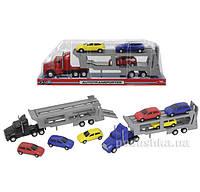 Автотранспортер с тремя машинками Dickie 3746000