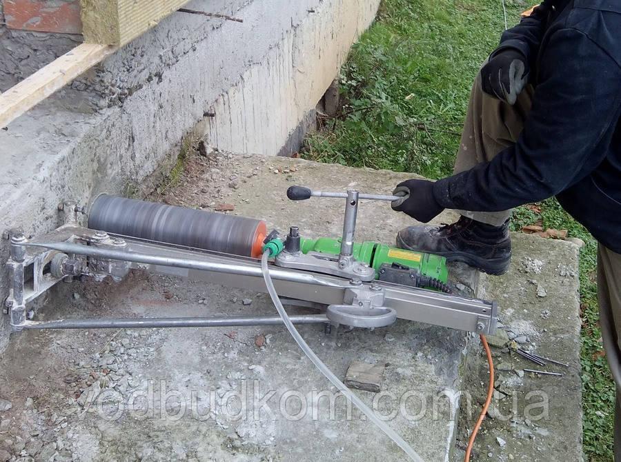 Алмазне буріння свердління отворів у залізобетонних фундаментах Тернопіль
