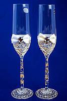 """Свадебные бокалы """"Glass bow"""" белые"""