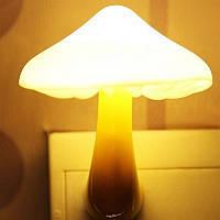 Ночник желтый грибок светильник