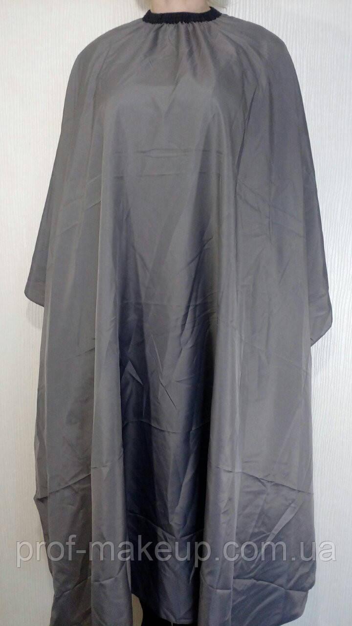 Пеньюар для стрижки ЭСТЕТ большой, серый.