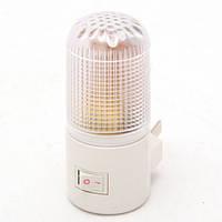 Ночник белый с кнопкой включения светильник