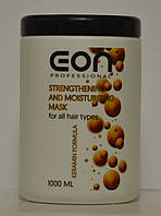 Маска  для всех типов волос Укрепляющая и увлажняющая 1000 мл Strengthening and Moisturizin EON Professional